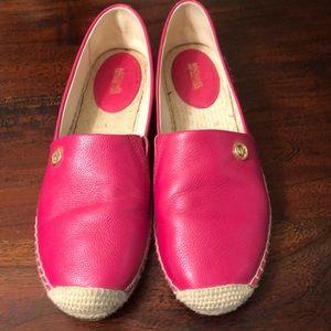 Michael Kors hot pink espadrilles